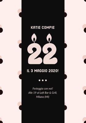 Katie compie  Invito al compleanno