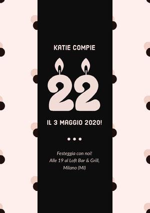 Katie compie  Invito a una festa