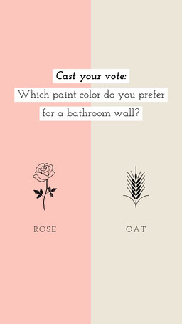 Favorite Bathroom Wall Paint Color Interactive Instagram Story