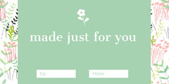 Green Floral Gift Tag Lifestyle