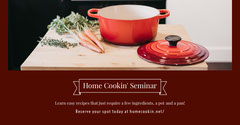 Home Cookin' Seminar Seminar Flyer