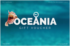 Blue and White Oceania Voucher Gift Card
