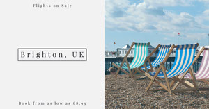 Deckchair on Beach Brighton Travel Agency Facebook Ad Facebook Shop 이미지