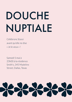 DOUCHE NUPTIALE E-mail d'invitation