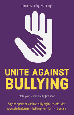 Purple and Yellow Anti Bullying Flyer Campaign