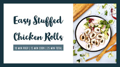 Chicken Roll Recipe Blog Post Graphic Crafts