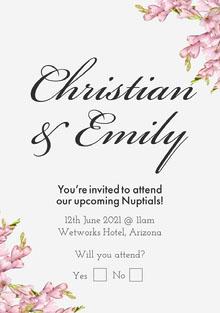 Floral Wedding Invitation  Invitación de boda