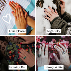 New Nail Product Photo Collage Grid Black And White