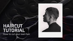haircut tutorial youtube thumbnail  Barber