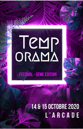 Purple Neon Tropical Festival Poster  Flyer événement