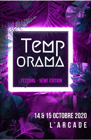 Purple Neon Tropical Festival Poster  Affiche événementielle
