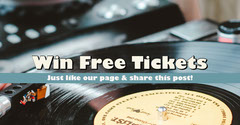 Blue Facebook Ticket Competition Ad Giveaway