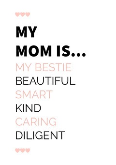 Pink Typographic Mothers Day Card Seasonal
