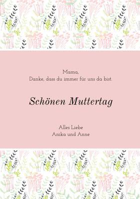 mothersdaycards Danksagungskarte