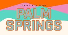 Colorful Retro Palm Springs California Travel and Tourism Facebook Social Post Ad California