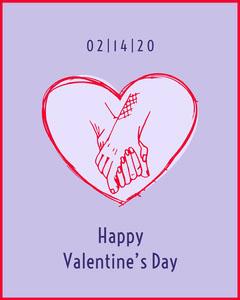 holding hands valentines Instagram portrait Valentine's Day