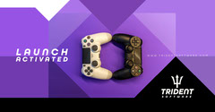 Black and Purple Trident Software Launch Facebook Post Launch