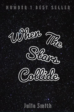 Black and White,  When The Stars Collide, Kindle Book Cover Galaxy