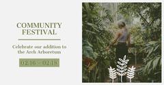 Green and Grey Community Festival Social Post Celebration