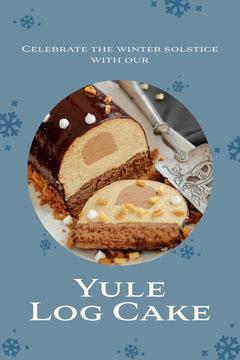 Blue Yule Log Cake Pinterest Celebration