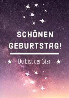 you're a star birthday cards Geburtstagskarte