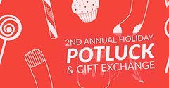 Red and White Holiday Facebook Banner Event Cover Event Banner