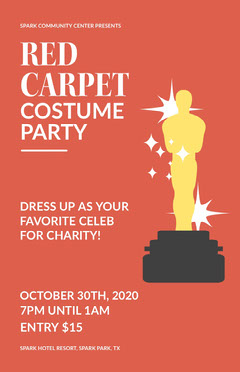 Red Carpet Costume Party Party