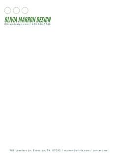 Green Creative Agency Letterhead Designer