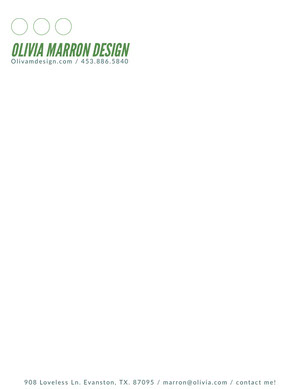 Green Creative Agency Letterhead Carte intestate