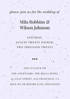Mila Robbins & Wilson Johnson  Weddings