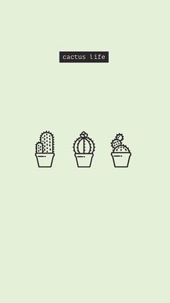 Blue Cacti Mobile Phone Wallpaper Cactus