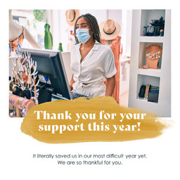 Yellow Paint Swatch Shop Thank You Message