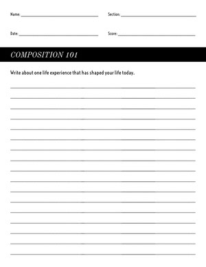 Black and White Empty Writing Worksheet Worksheet