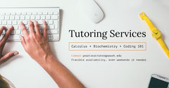 White and Light Toned Tutoring Service Ad Facebook Banner Tutor Flyer