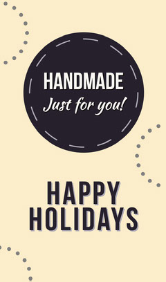 Yellow and Black Holiday Handmade Gift Tag Gift Card