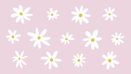 Springtime Daisies Zoom Virtual Background