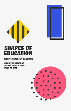 Shapes of education Poster Education