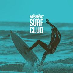 Green Surf Club Instagram Square Ocean