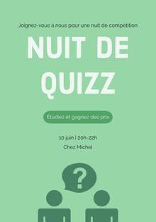 Nuit de quizz Invitation