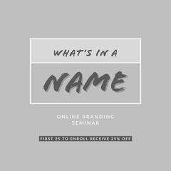 Grey and White Online Seminar Instagram Graphic Seminar Flyer