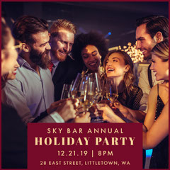 annual holiday party invite igsquare Holiday Party Flyer