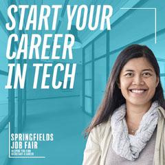 Blue Office Career Springfields Job Fair IG Square Tech