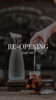 re-opening instagram story Coffee