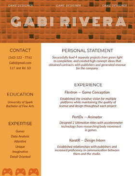 Gabi  Rivera Creative Resume