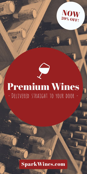 Red Winery Vertical Ad Banner Reclamebanner
