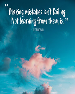 Red Cloud Making Mistakes Quote IG Square Sky