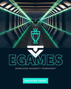Blue, Modern, Futuristic EGames Tournament Instagram Portrait Contest