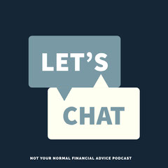 Blue and White Chat Podcast Ad Instagram Post Finance