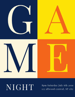 M Game Night Flyer