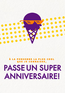 coolest person birthday cards  Carte d'anniversaire
